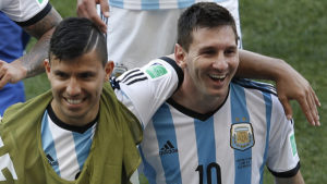 Aguero and Lionel Messi - Argentina