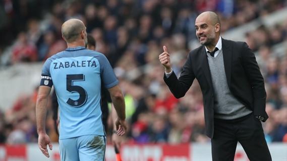 Pep Guardiola praises Pablo Zabaleta's contribution to Manchester City