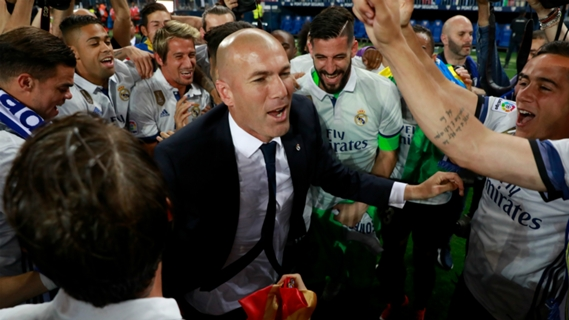 Zidane has recently won La Liga trophy with Real Madrid