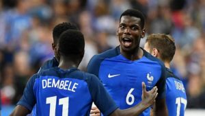 Pogba in France's national squad