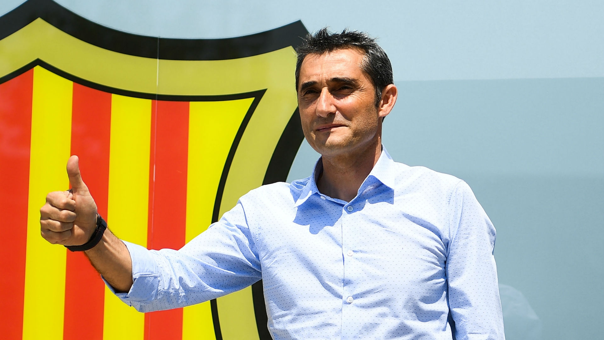 Ernesto Valverde has been presented as Barcelona's new manager