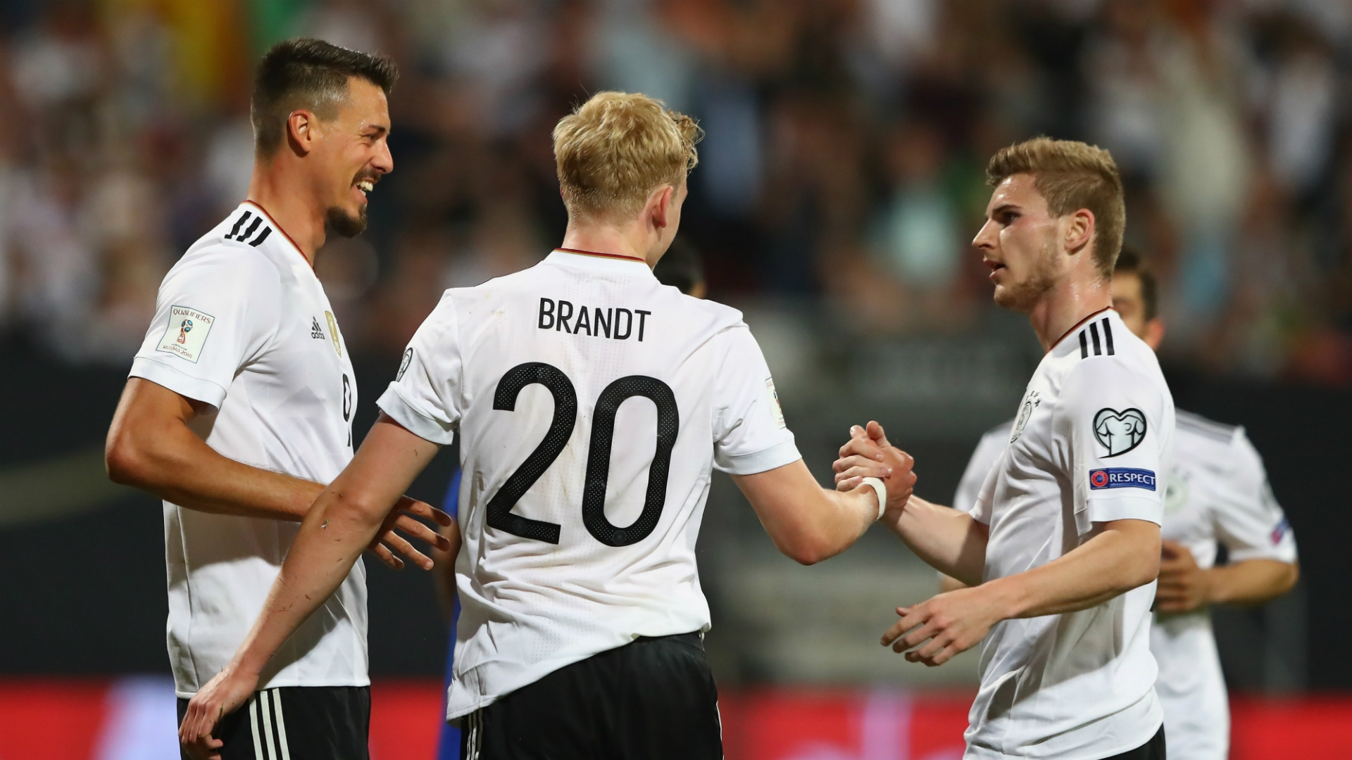 Germany's team selection has favored, for the most part, young players.