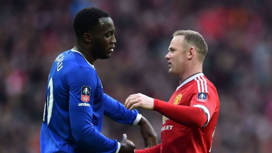 Wayne Rooney and Romelu Lukaku