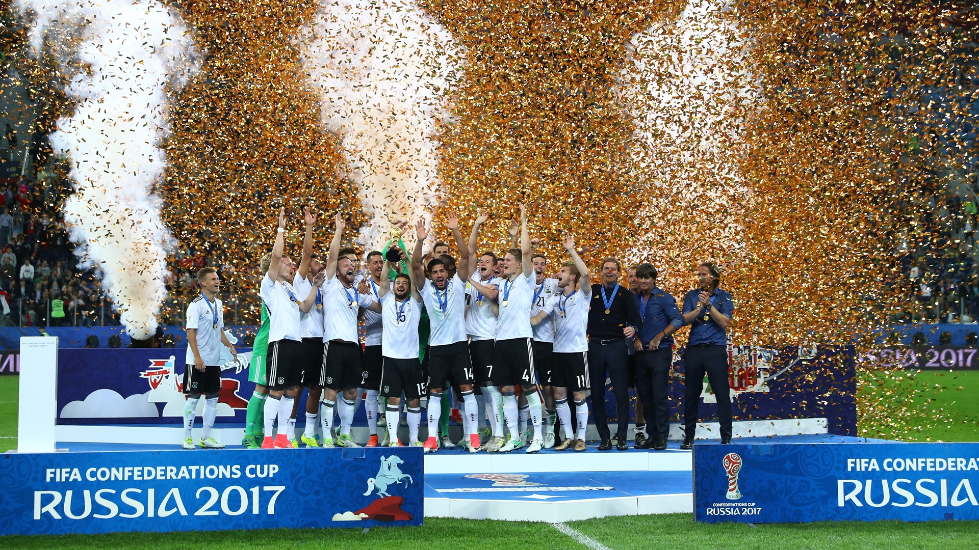 The Germans never seemed to face many problems in winning the Confederations Cup trophy.