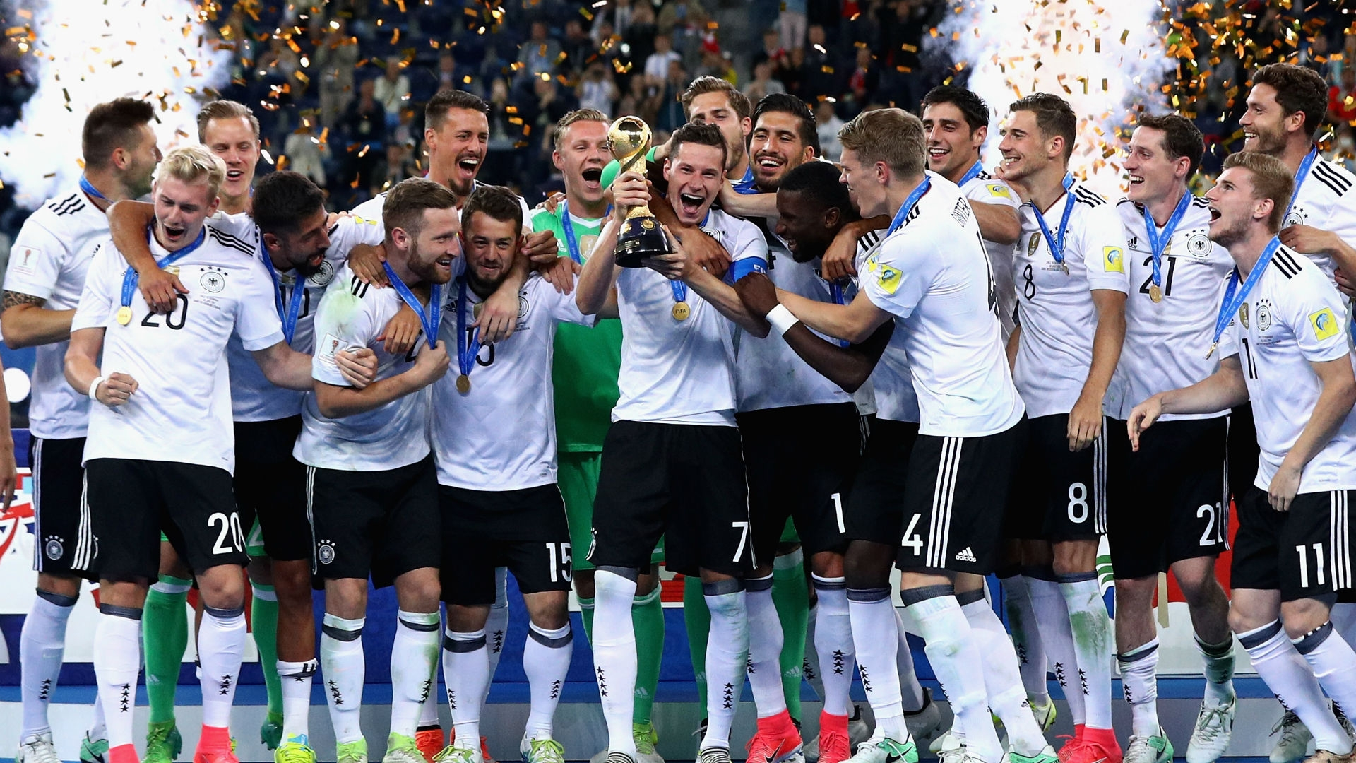 Low says that the victory will guarantee the team a place in Germany's football history.