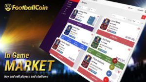 FootballCoin In Game Market buy and sell collectible cards