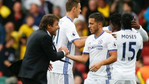 Antonio Conte and Eden Hazard