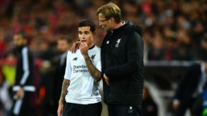 Coutinho and Klopp in Liverpool Spartak