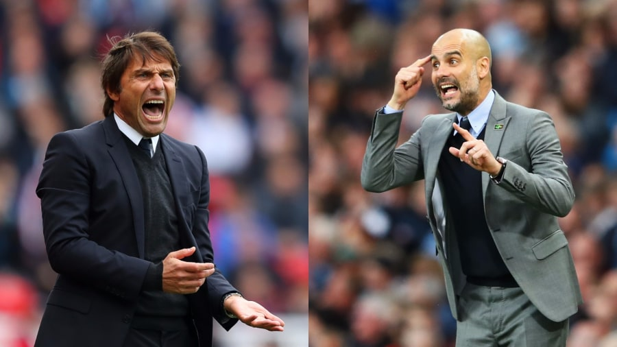 Antonio Conte & Pep Guardiola, managers of two of the clubs fighting for better tv rights
