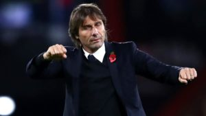 Antonio Conte ahead of game against Roma