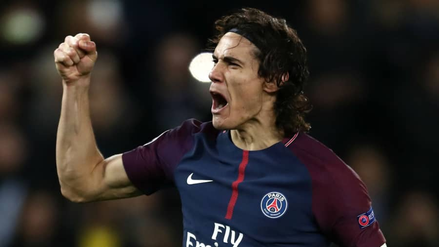 Edinson Cavani helping PSG in setting goalscoring record in UCL