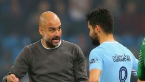 Guardioia and Gundogan Manchester City