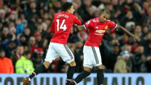 Lingard and Young - Manchester United vs. Burnley