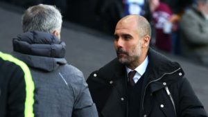 Manchester derby - Mourinho and Guardiola