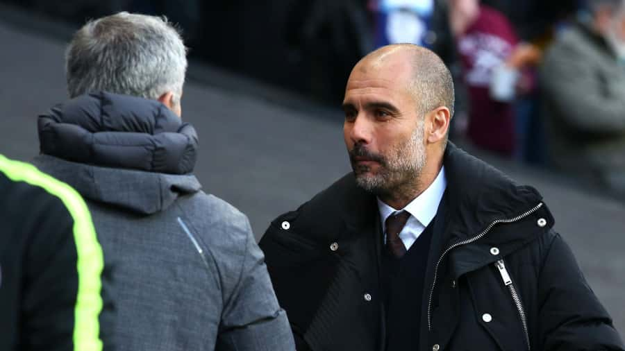 Manchester derby - Mourinho and Guardiola