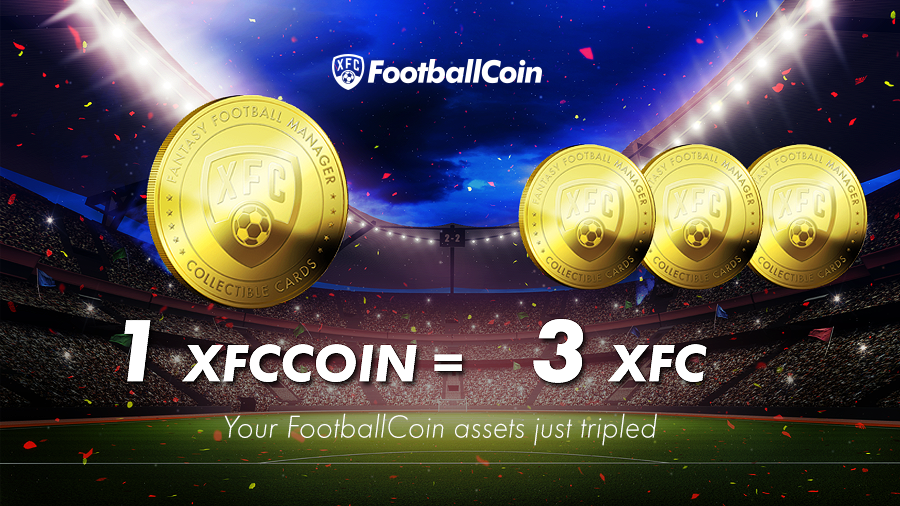 FootballCoin - XFC Conversion 3:1