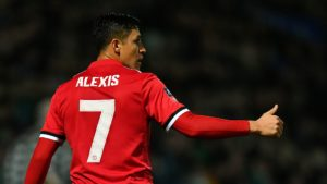 Alexis Sanchez wearing the iconic #7 jersey