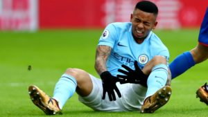 Gabriel Jesus sustained an injury that will have him out for 4-6 weeks