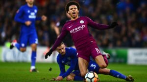 Leroy Sane injury in Cardiff game