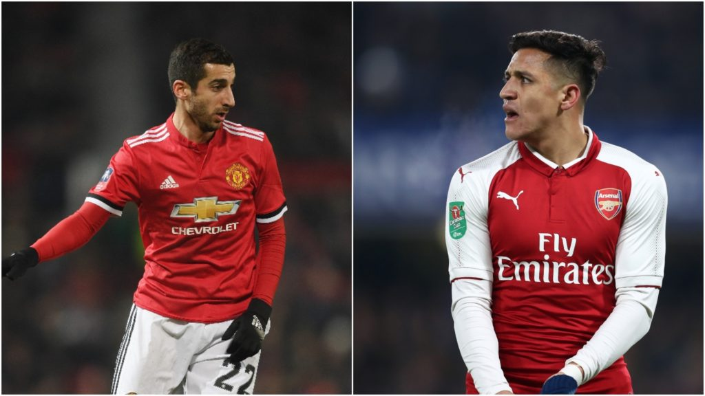 mkhitaryan and sanchez ready for transfer switch
