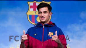 Coutinho unveiled by Barcelona
