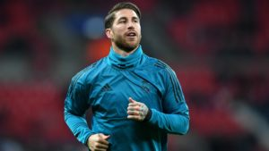 Sergio Ramos in preperationfor the match against Leganes