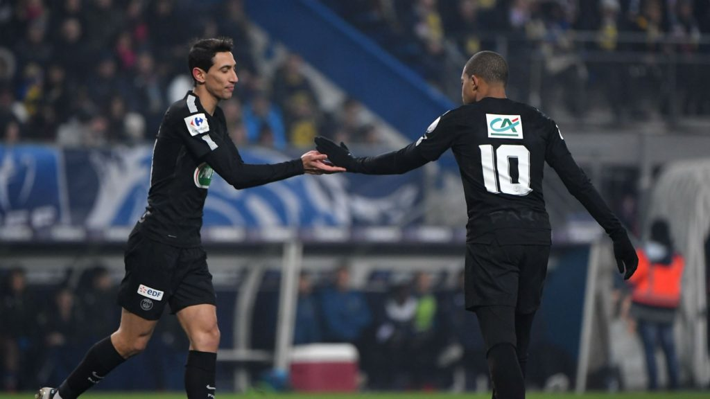 Kylian Mbappe and Angel Di Maria - PSG
