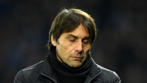 Antonio Conte following Chelsea defeat Watford