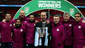 Manchester CIty capturing first trophy of Guardiola era