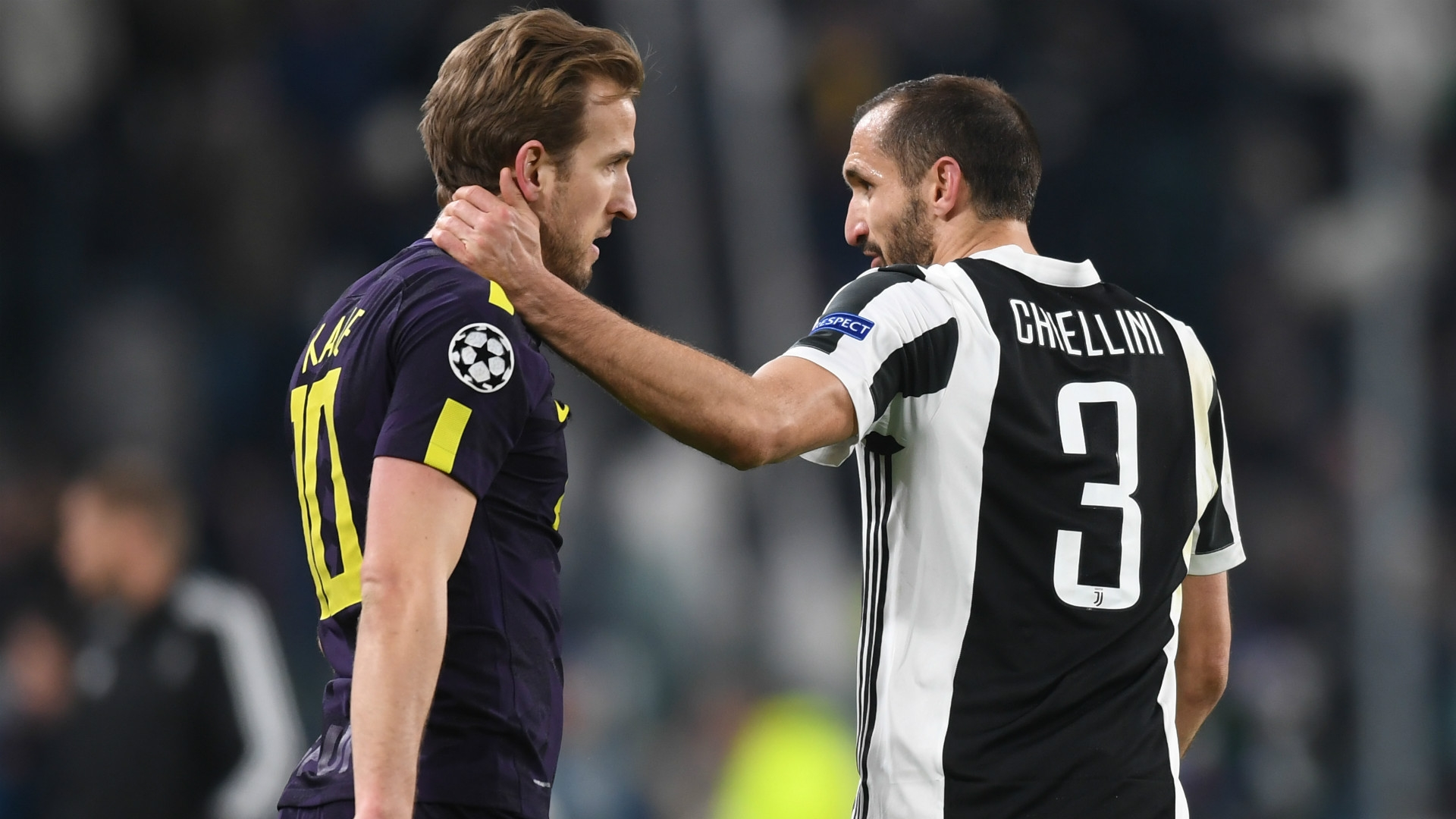Harry Kane and Giorgio Chiellini