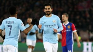 Gundogan, City's man of the match in Manchester City vs. Basel