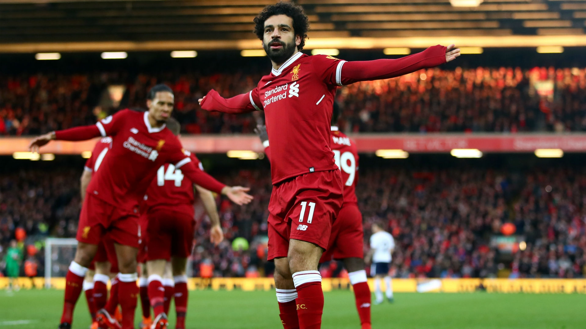 Salah And Kane Showdown, In Action Packed Derby