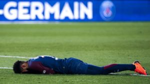 Neymar had to be taken off the field in game against OM