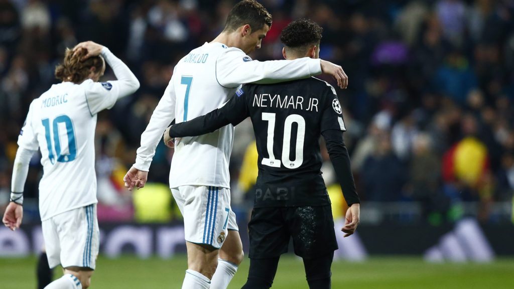 Ronaldo and Neymar were the big stars in the Real Madrid - PSG derby