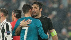 Buffon and Ronaldo - Real Madrid vs. Juventus in last night's Champions League game