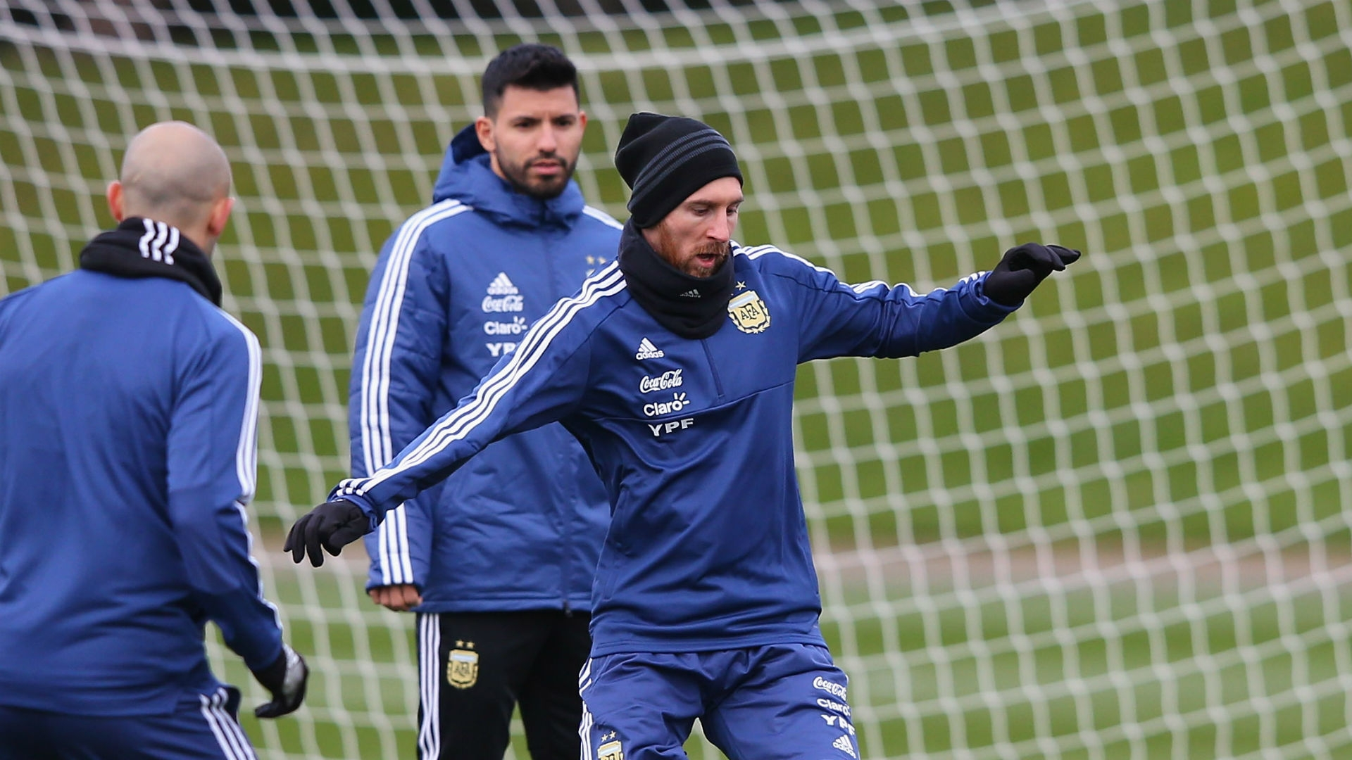 Lionel Messi in Barcelona training