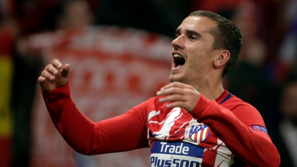 Antoine Griezmann scored twice in the Europa League final