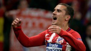 Antoine Griezmann scored twice in the Europa League final