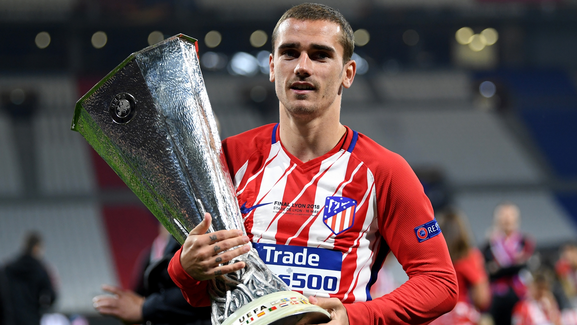 Antoine Griezmann with the Europa League final