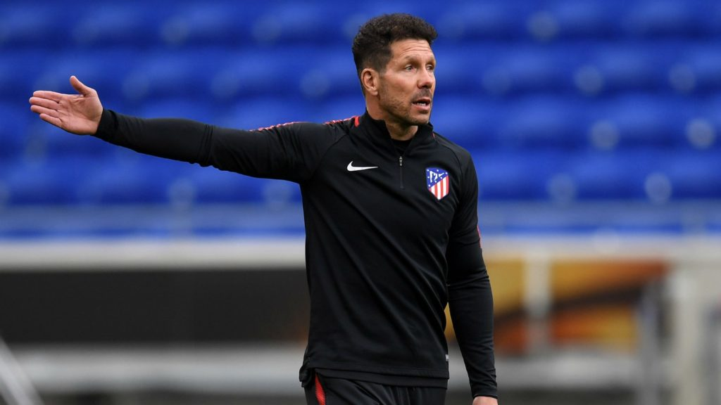 Diego Simeone - Atletico Madrid in the Europa League final against Olympique Marseille