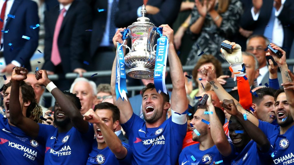 gary Cahill - helping Chelsea win the FA Cup