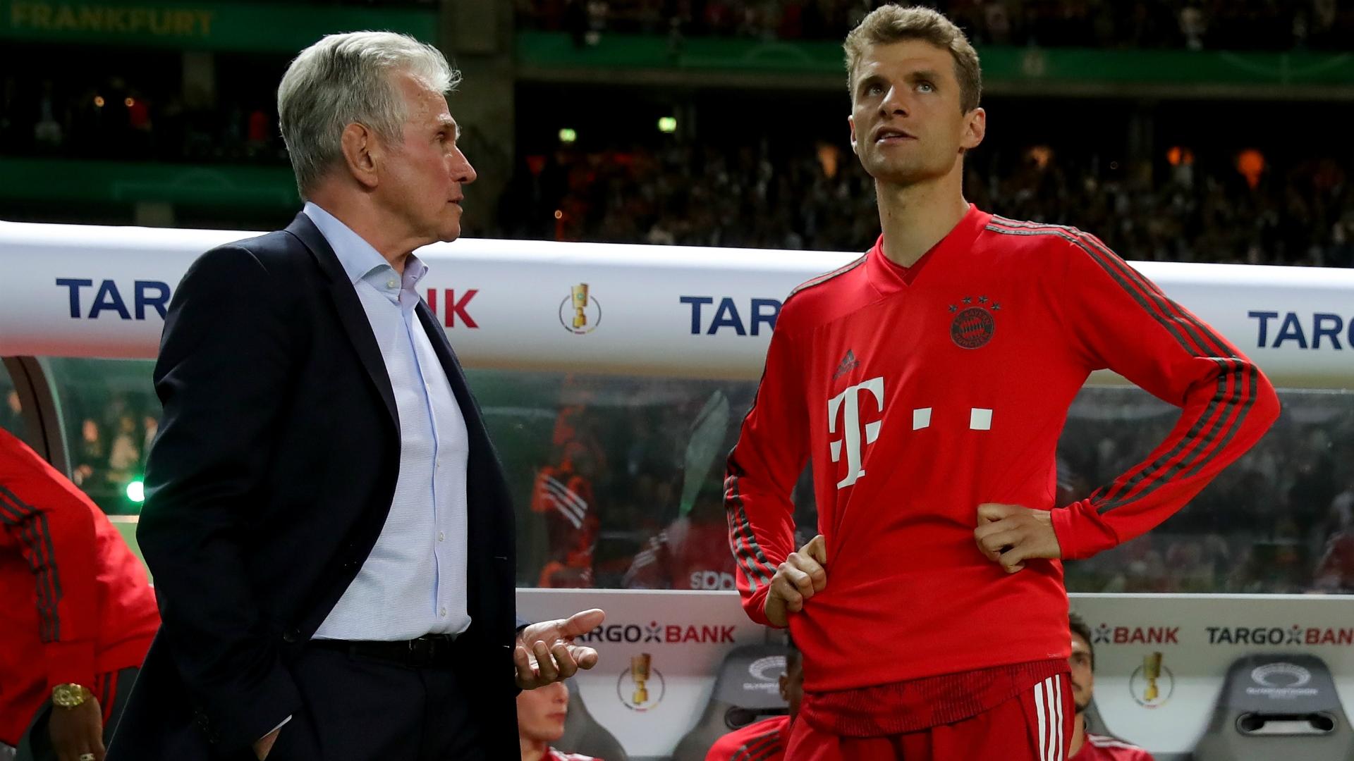 Jupp Heynckes and Thomas Muller - Bayern Munchen