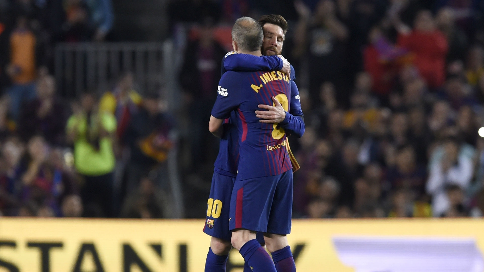 Andres Iniesta ha splayed his final El Clasico