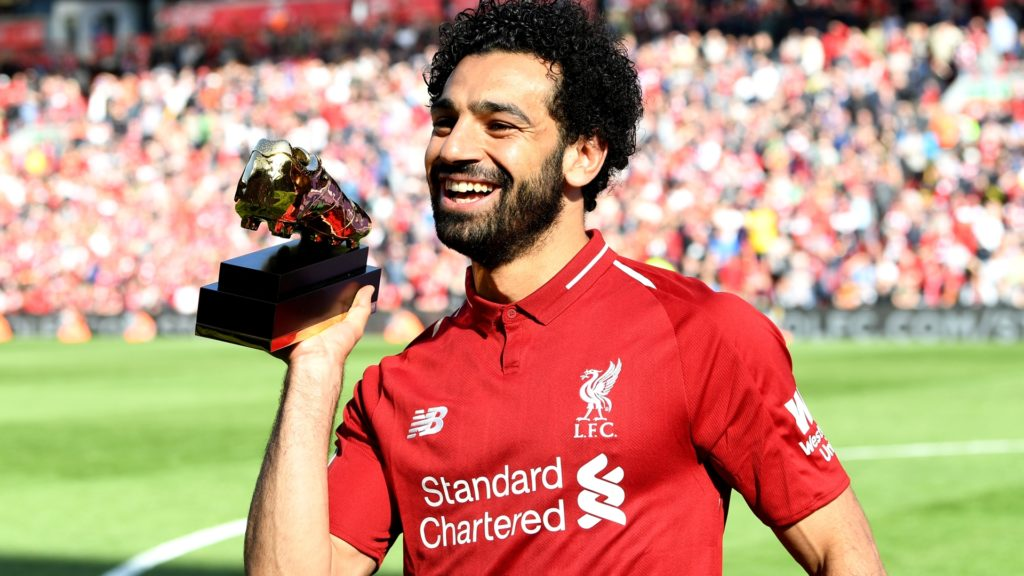 Mohamed Salah, winner of the Player of the Year award