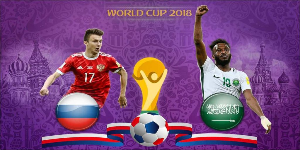 Russia - Saudi Arabia in Day 1 of the World Cup
