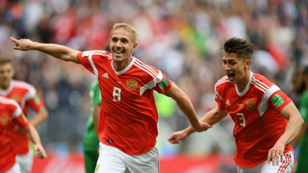 gazinsky - scores first World Cup goal for Russia