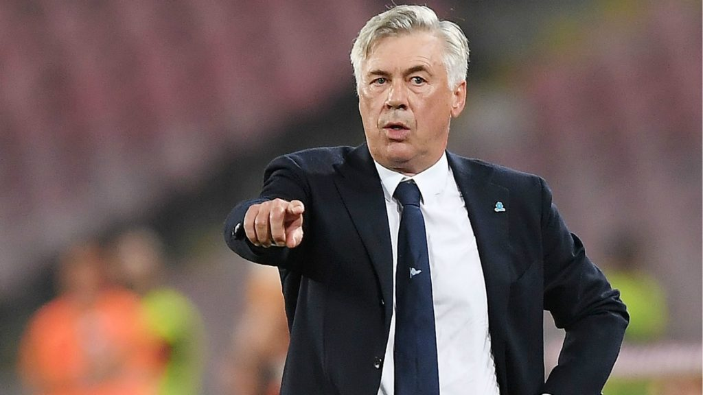 Carlo Ancelotti- the former manager of Bayern Munchen and new manager of Napoli