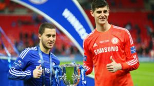 thibaut courtois and eden hazard - helsea