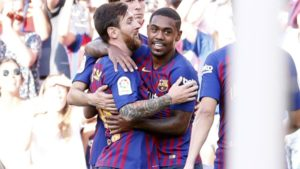 Malcom and Lionel Messi - Barcelona