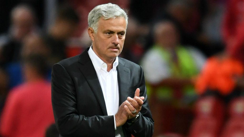 Jose MOurinho following United's defeat to Brighton